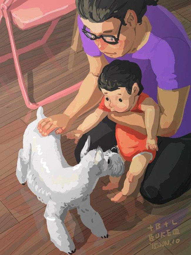Ngắm khoảnh khắc bố chăm con ngọt ngào đến tan chảy, các mẹ mới nhận ra các bố cũng khéo lắm chứ! - Ảnh 23.