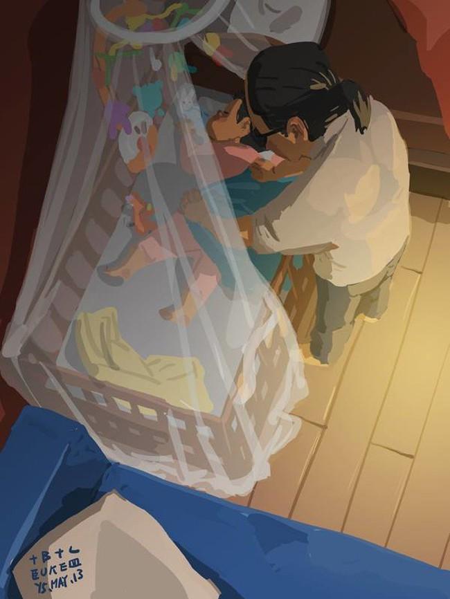 Ngắm khoảnh khắc bố chăm con ngọt ngào đến tan chảy, các mẹ mới nhận ra các bố cũng khéo lắm chứ! - Ảnh 34.