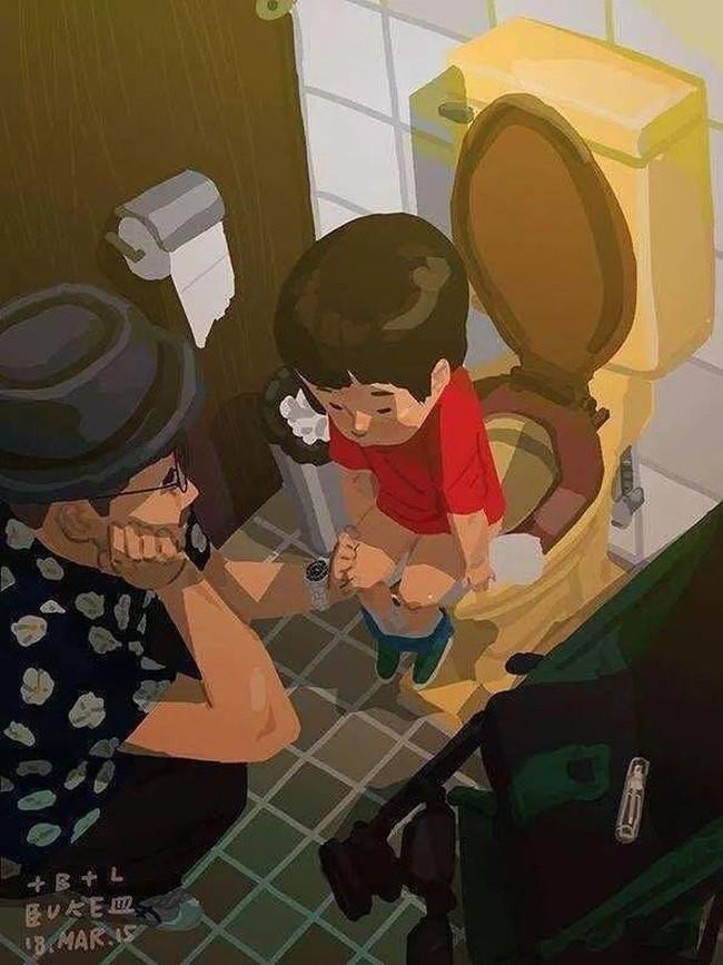 Ngắm khoảnh khắc bố chăm con ngọt ngào đến tan chảy, các mẹ mới nhận ra các bố cũng khéo lắm chứ! - Ảnh 36.