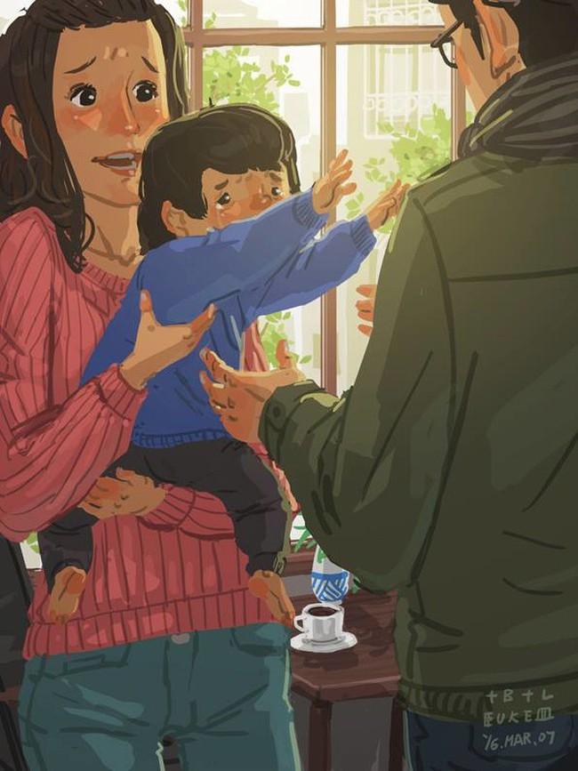 Ngắm khoảnh khắc bố chăm con ngọt ngào đến tan chảy, các mẹ mới nhận ra các bố cũng khéo lắm chứ! - Ảnh 7.