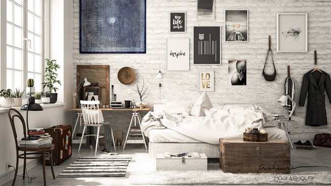 Biến tấu phòng ngủ theo những kiểu trang trí mới mẻ này, bạn sẽ thấy những giấc mơ thanh xuân như ùa về - Ảnh 15.