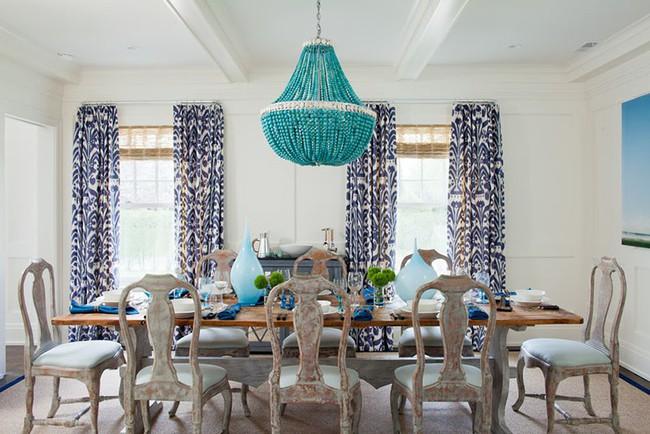 Tuyệt chiêu lựa chọn rèm cửa để nâng tầm vẻ đẹp của căn phòng ăn gia đình để đón xuân mới - Ảnh 5.