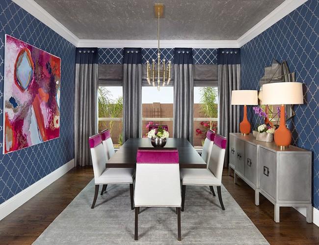 Tuyệt chiêu lựa chọn rèm cửa để nâng tầm vẻ đẹp của căn phòng ăn gia đình để đón xuân mới - Ảnh 7.