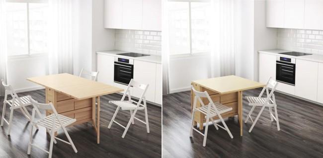 10 thiết kế bàn gấp giúp gia chủ tiết kiệm được diện tích sống tối đa - Ảnh 3.
