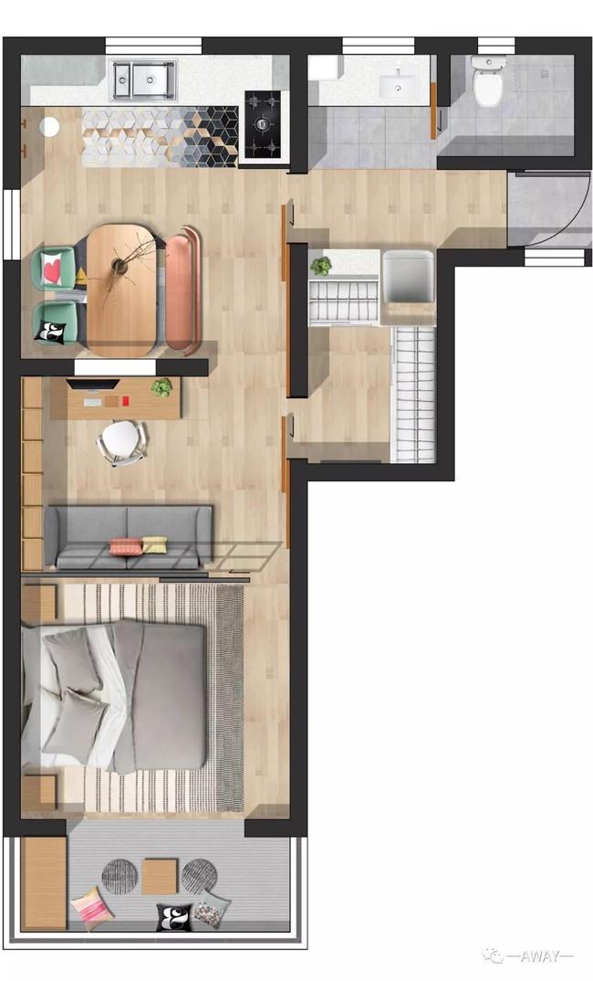 Mất 3 tháng với rất nhiều công sức, căn hộ tập thể 40m² được vợ chồng trẻ lột xác đẹp từng centimet - Ảnh 3.