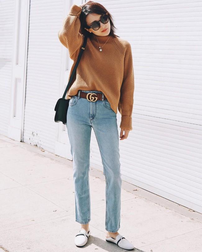 """""""Ngôi sao"""" của mùa đông chính là quần jeans và 15 set đồ sau sẽ giúp các nàng biến hóa tài tình với item này - Ảnh 4."""