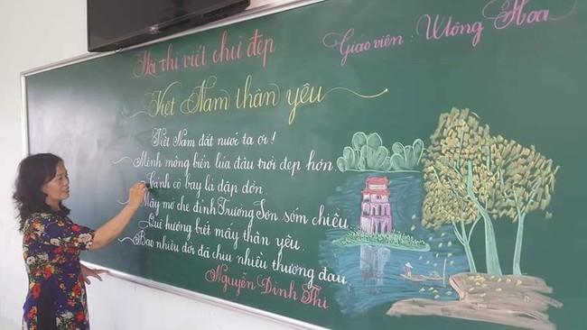 Khi giáo viên tiểu học đi thi viết chữ đẹp: Không máy in hay font chữ xịn sò nào có thể sánh ngang với bàn tay cô giáo! - Ảnh 2.
