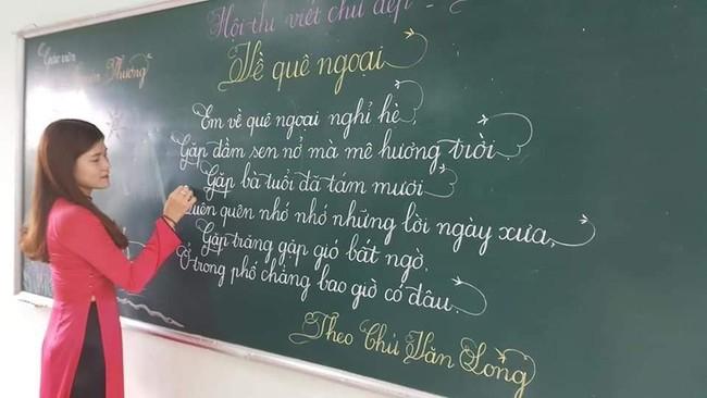 Khi giáo viên tiểu học đi thi viết chữ đẹp: Không máy in hay font chữ xịn sò nào có thể sánh ngang với bàn tay cô giáo! - Ảnh 4.