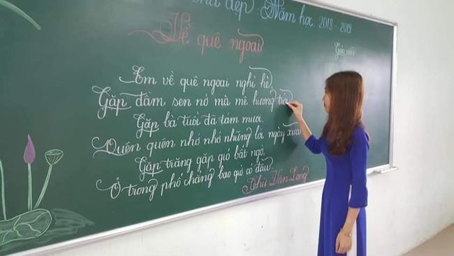 Khi giáo viên tiểu học đi thi viết chữ đẹp: Không máy in hay font chữ xịn sò nào có thể sánh ngang với bàn tay cô giáo! - Ảnh 9.