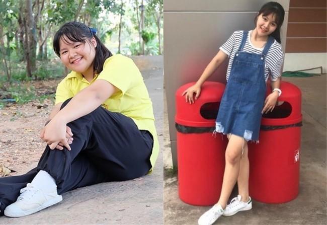 Từng bị gọi là voi nước vì nặng tới 100kg, cô gái 18 tuổi này đã có màn lột xác ấn tượng sau giảm cân - Ảnh 3.
