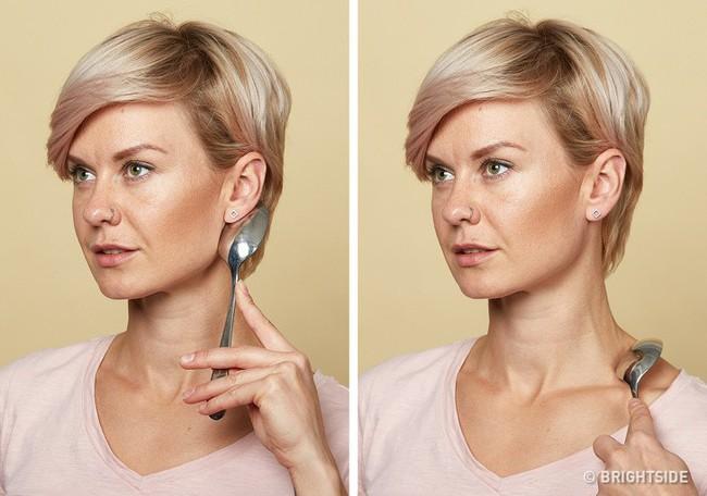 Massage chống lão hóa kiểu châu Á: Chỉ dùng thìa mà sau 2 tuần đã có da mặt căng mọng, khỏe mạnh không nếp nhăn - Ảnh 12.