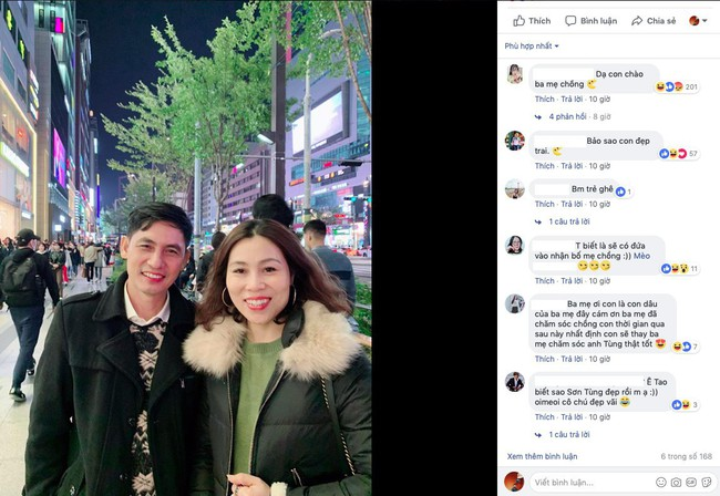 Đăng ảnh đi chơi Hàn Quốc, Sơn Tùng M-TP vô tình biến bố mẹ mình thành cặp bố mẹ chồng quốc dân lúc nào không hay - Ảnh 3.