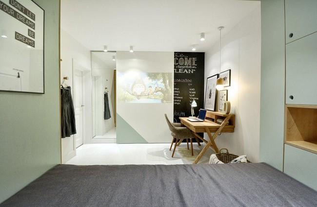 Với cách thiết kế thông minh, cô gái đã biến căn phòng 12m² đi thuê trở thành không gian sống vô cùng sang chảnh - Ảnh 10.