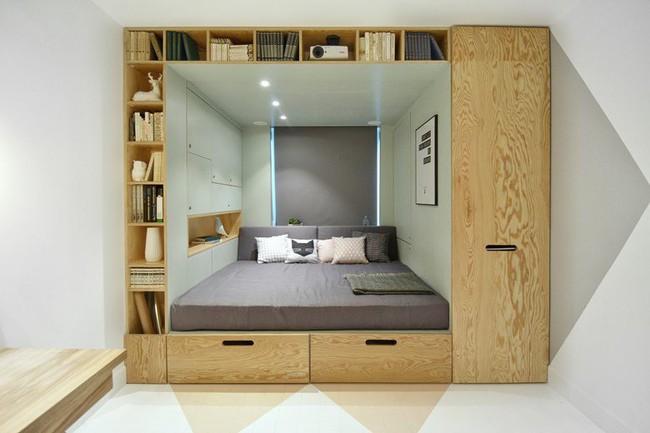 Với cách thiết kế thông minh, cô gái đã biến căn phòng 12m² đi thuê trở thành không gian sống vô cùng sang chảnh - Ảnh 2.