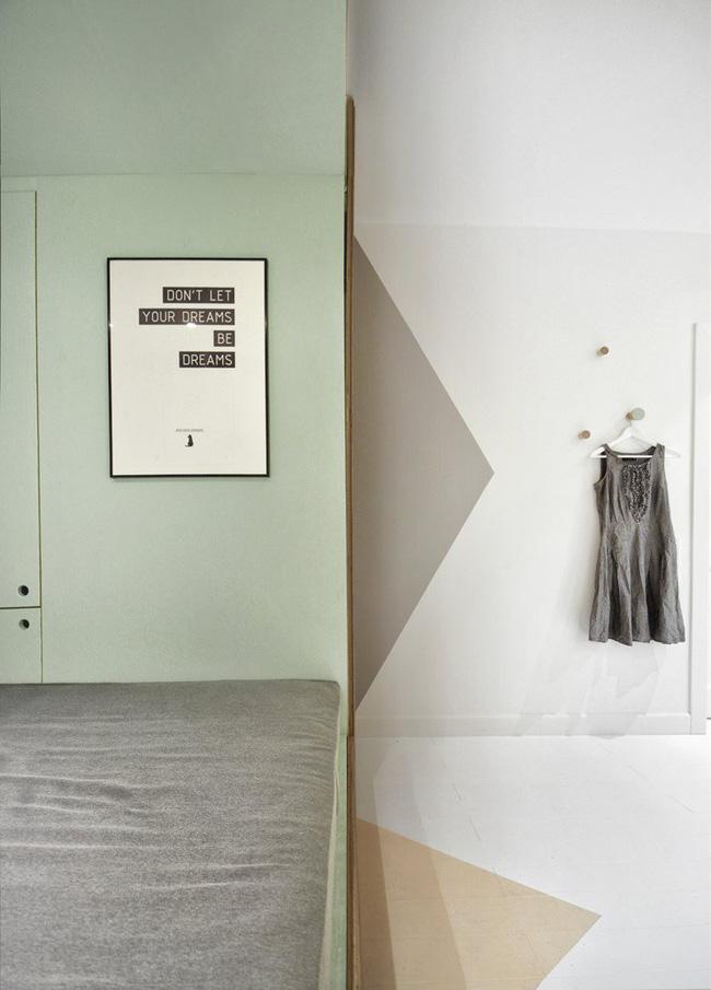 Với cách thiết kế thông minh, cô gái đã biến căn phòng 12m² đi thuê trở thành không gian sống vô cùng sang chảnh - Ảnh 4.