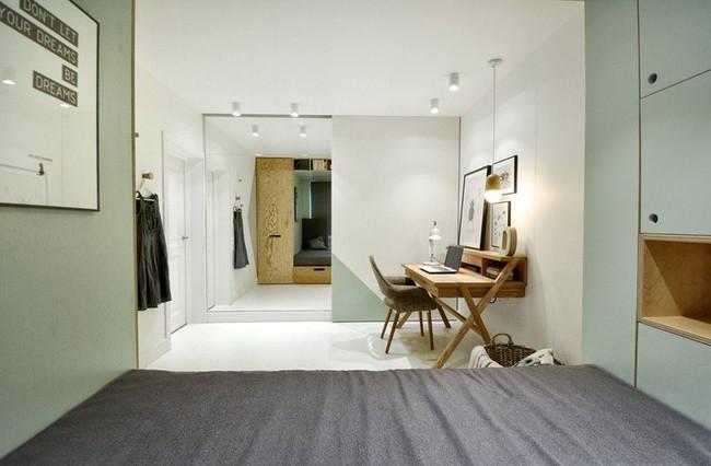 Với cách thiết kế thông minh, cô gái đã biến căn phòng 12m² đi thuê trở thành không gian sống vô cùng sang chảnh - Ảnh 8.