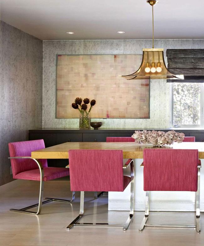 Chìm đắm trong vẻ đẹp ngọt ngào của những căn phòng ăn được tô điểm với sắc hồng - Ảnh 2.
