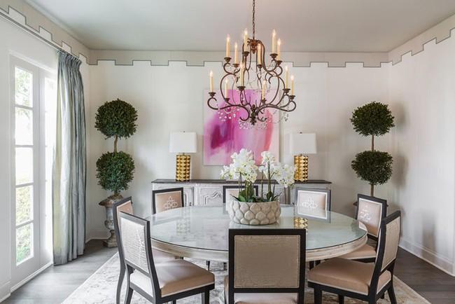 Chìm đắm trong vẻ đẹp ngọt ngào của những căn phòng ăn được tô điểm với sắc hồng - Ảnh 8.