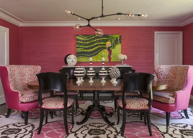 Chìm đắm trong vẻ đẹp ngọt ngào của những căn phòng ăn được tô điểm với sắc hồng - Ảnh 10.