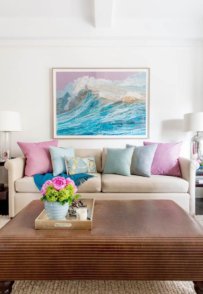 Cho phòng khách vẻ đẹp mơ màng để đón thu sang với gam màu pastel  - Ảnh 5.