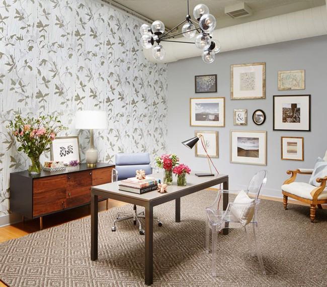 Khi muốn căn nhà nhỏ luôn ngập tràn sức sống thì đừng quên giấy dán tường họa tiết hoa lá - Ảnh 13.