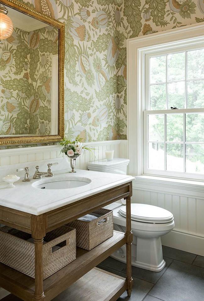 Khi muốn căn nhà nhỏ luôn ngập tràn sức sống thì đừng quên giấy dán tường họa tiết hoa lá - Ảnh 4.
