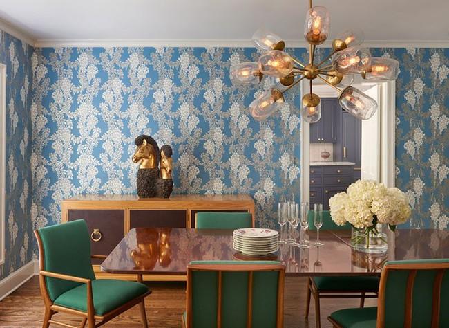 Khi muốn căn nhà nhỏ luôn ngập tràn sức sống thì đừng quên giấy dán tường họa tiết hoa lá - Ảnh 5.