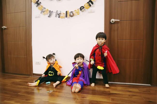 Halloween cập bến 3 gia đình hot nhất MXH: Xoài - Cam - Đậu biến hóa thành những siêu anh hùng dễ thương - Ảnh 11.