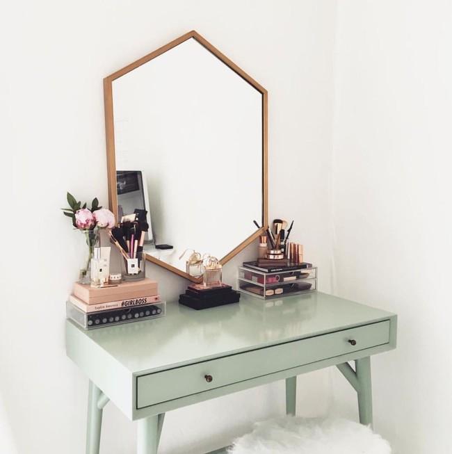 9 mẫu bàn trang điểm khiến chị em thích mê vì đẹp như mơ lại còn đa chức năng - Ảnh 3.