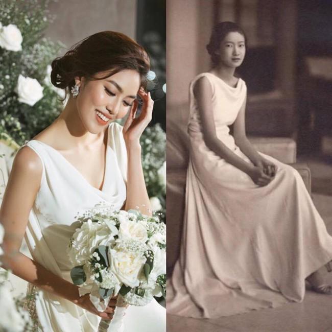 Mẫu váy cưới giúp tôn lên nét đẹp đoan trang, thoát tục mà Lan Khuê mặc được lấy cảm hứng từ Hoàng hậu cuối cùng của Việt Nam - Ảnh 6.