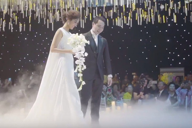 Lan Khuê thay đồ cưới liên tục như chạy show thời trang, có bộ đính 10.000 viên pha lê tốn 2 tháng thực hiện - Ảnh 4.