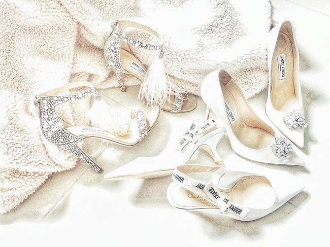 Lan Khuê thay đồ cưới liên tục như chạy show thời trang, có bộ đính 10.000 viên pha lê tốn 2 tháng thực hiện - Ảnh 9.