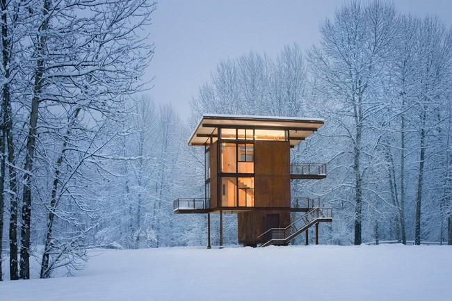 Giới mộ điệu trầm trồ với danh sách 21 thiết kế nhà siêu nhỏ ẩn mình giữa thiên nhiên với khí hậu khắc nghiệt - Ảnh 6.