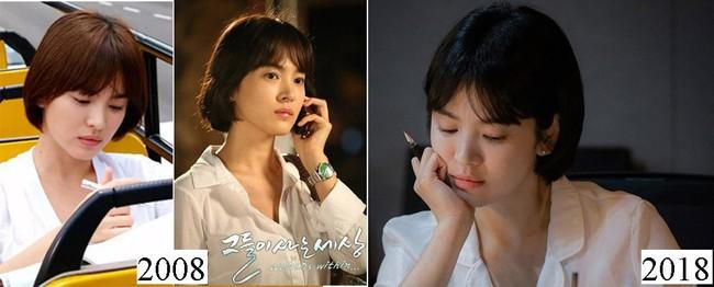 Vẫn biết Song Hye Kyo đẹp, nhưng đến độ để lại kiểu tóc 10 năm trước mà vẫn trẻ y nguyên thì thật khó tin - Ảnh 5.
