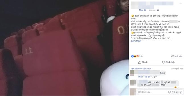 Bi quay ray trong rap phim, co gai dang dan chia se cau chuyen, dan mang lien bay to su dong cam sau sac