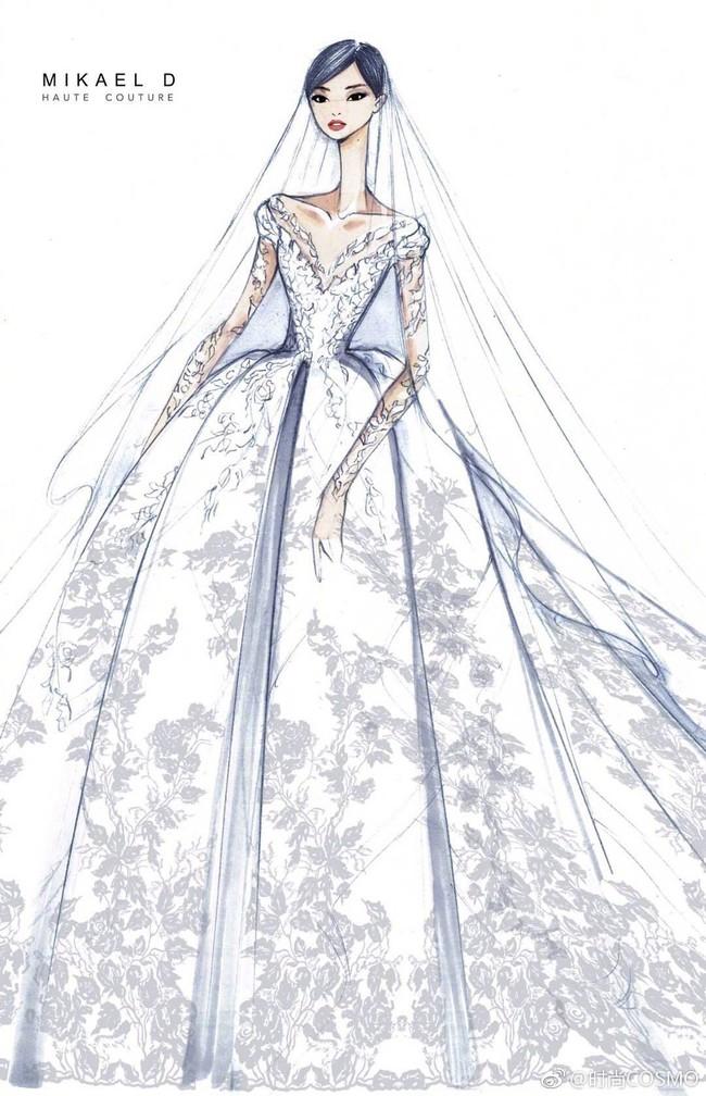 Cận cảnh váy cưới của Đường Yên: lộng lẫy như công chúa, tốn hơn 5.000 giờ thực hiện và ẩn chứa bí mật bất ngờ - Ảnh 6.