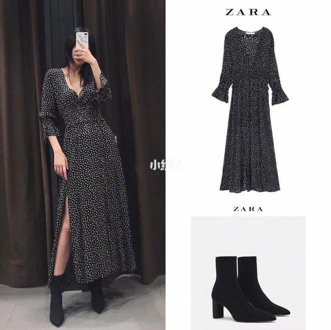 10 mẫu váy dài tay hot hit từ Zara đang được các tín đồ thời trang diện nhiệt tình khi trời se lạnh - Ảnh 7.