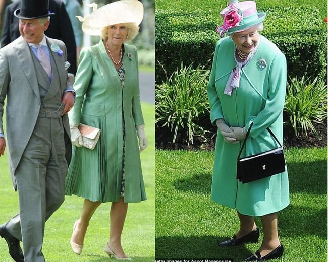 """Không dưới 3 lần """"đụng"""" đồ rực rỡ với Nữ hoàng Anh, bà Camilla chính là nữ nhân Hoàng gia duy nhất dám làm vậy - Ảnh 7."""