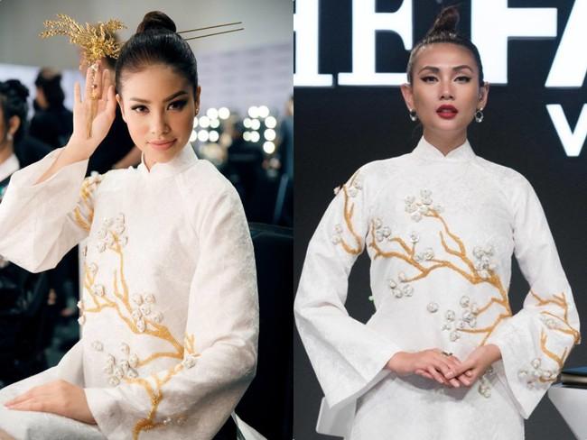 Uy nghiêm, sắc lạnh là thế nhưng Võ Hoàng Yến vẫn lép vế trước Phạm Hương khi đụng hàng tà áo dài trắng  - Ảnh 10.