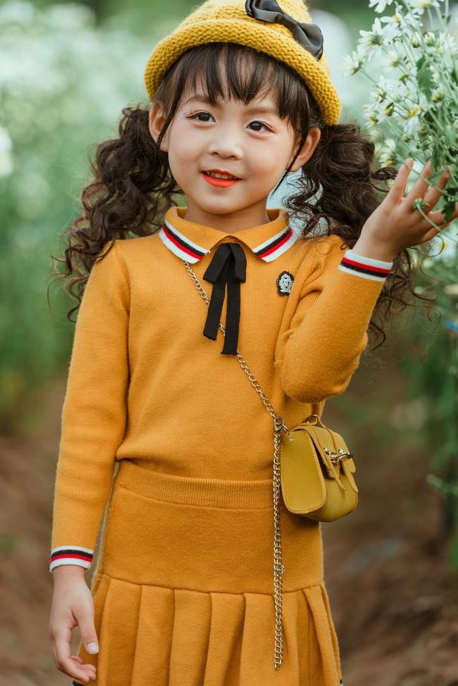 Đã xinh lại thần thái, bé gái Hà Nội dạo chơi trong vườn cúc họa mi khiến ai đi qua cũng phải ngoái nhìn - Ảnh 4.