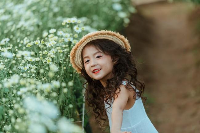 Đã xinh lại thần thái, bé gái Hà Nội dạo chơi trong vườn cúc họa mi khiến ai đi qua cũng phải ngoái nhìn - Ảnh 18.