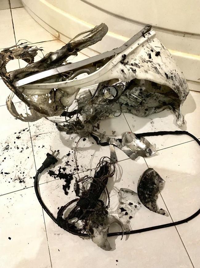 Đèn sưởi nhà tắm phát nổ như pháo hoa và lời cảnh báo cho các gia đình có trẻ nhỏ - Ảnh 3.