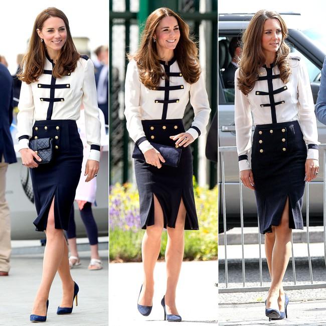 Thời gian Công nương Kate diện lại đồ cũ có khi lên đến vài năm, nhưng lạ thay chúng vẫn vẹn nguyên tính thời trang - Ảnh 4.