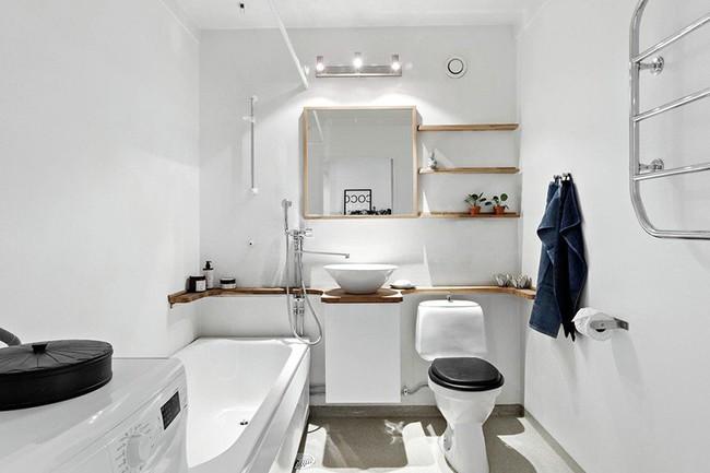 Cứ nhẹ nhàng, đơn giản như những căn phòng tắm Scandinavian cũng đủ khiến biết bao người phải say đắm - Ảnh 11.