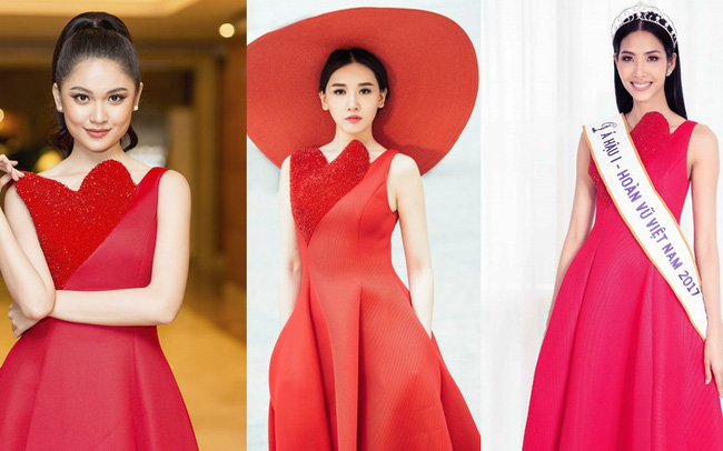 Như một thói quen, Hari Won cứ 10 lần mặc váy đỏ là 9 lần đụng hàng - Ảnh 3.