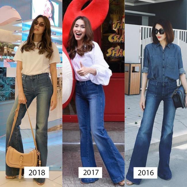 Mặc jeans thôi mà chân dài cả tấc, chẳng trách Hà Tăng có mỗi chiếc quần mà 3 năm rồi vẫn diện đi diện lại - Ảnh 3.