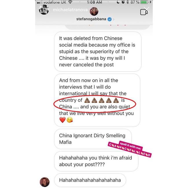 Cô gái gốc Việt được dân mạng Trung Quốc tung hô sau khi bóc phốt tin nhắn của NTK Dolce & Gabbana trên Instagram - Ảnh 2.
