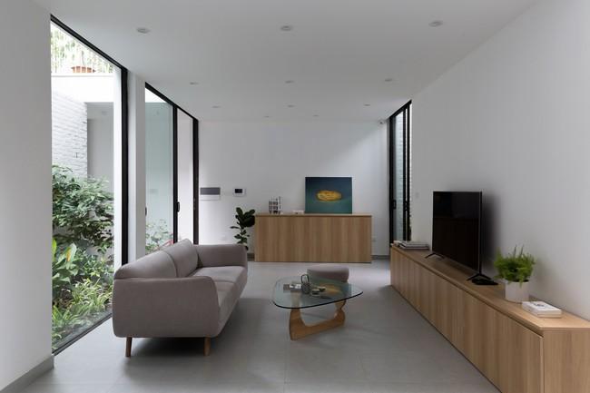 Xây từ miếng đất nhiều nhược điểm, ngôi nhà 85m² ở Hà Nội này vẫn được trầm trồ khen vừa đẹp, vừa xanh - Ảnh 6.