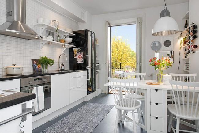 Cách chọn rèm cửa cho nhà bếp kết nối với ban công vừa đẹp vừa thuận tiện đi lại - Ảnh 29.