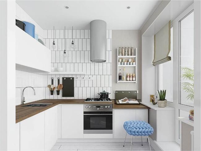 Cách chọn rèm cửa cho nhà bếp kết nối với ban công vừa đẹp vừa thuận tiện đi lại - Ảnh 20.